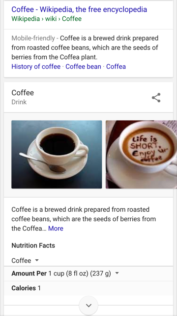 Wikipedia Results for Local Coffee Shop