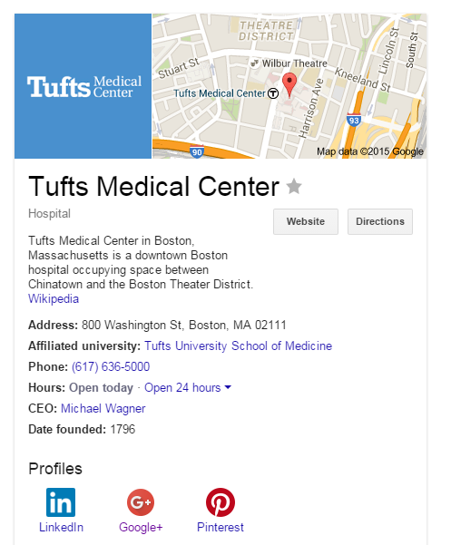 Tufts Medical Center Knowledge Graph